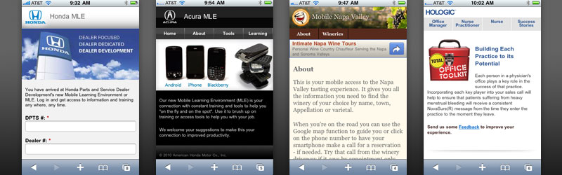 Mobile Web Tools